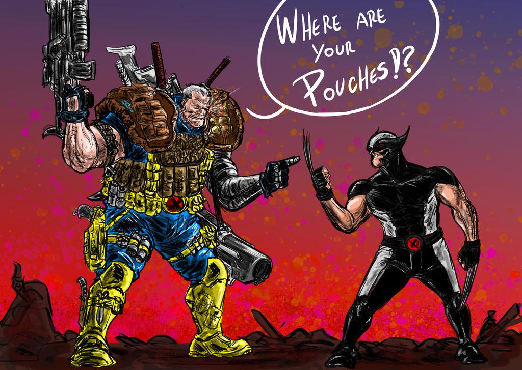 Cable /Wolverine fanart by lucas-garcia