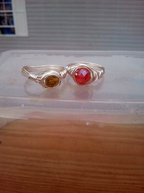 Fire and Ivy: Two new rings by WyckedDreamsDesigns