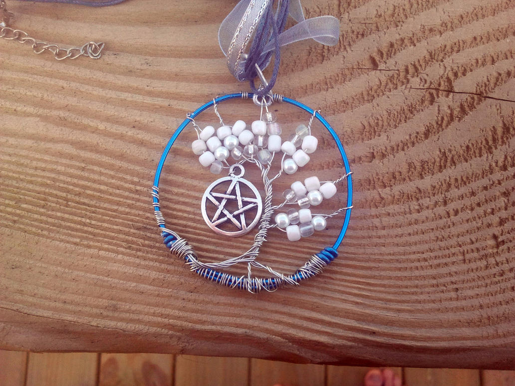Tree of Life and Pentacle pendant by WyckedDreamsDesigns
