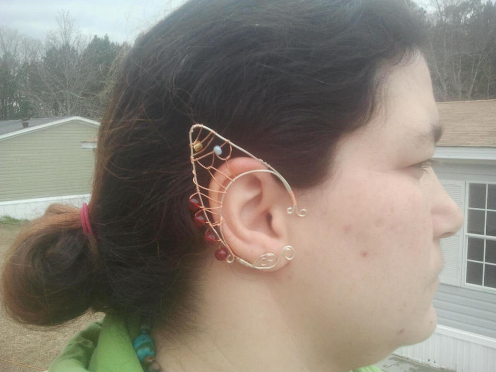 Silver Wire Elven Tipped earcuff by WyckedDreamsDesigns