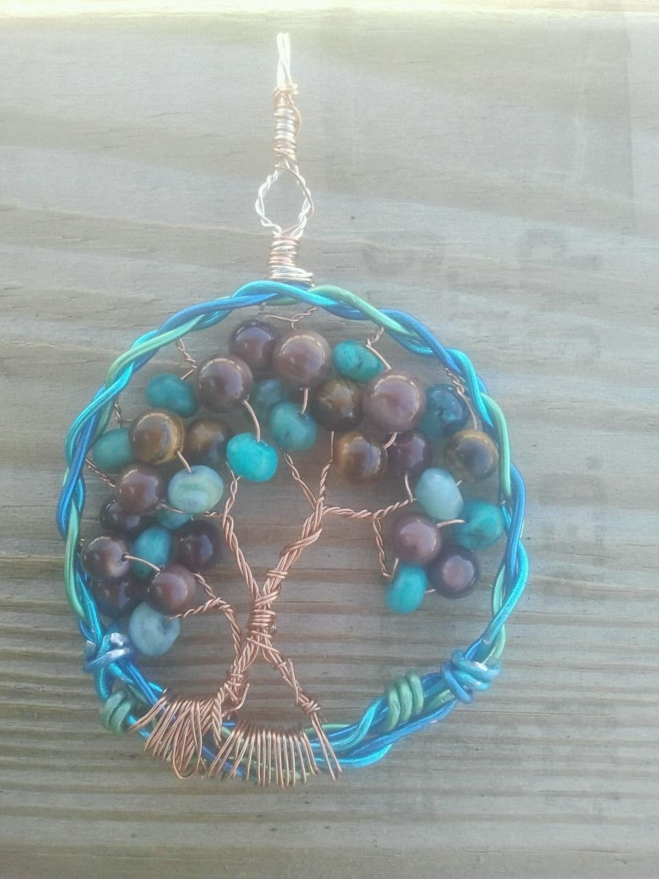 Earthly Delight Tree of Lifen Braided pendant by WyckedDreamsDesigns