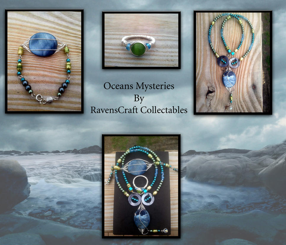 Oceans Mysteries Pearl and Sea Shell set by WyckedDreamsDesigns