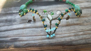 Aventrine, Topaz and Emerald Tree of Life Choker by WyckedDreamsDesigns