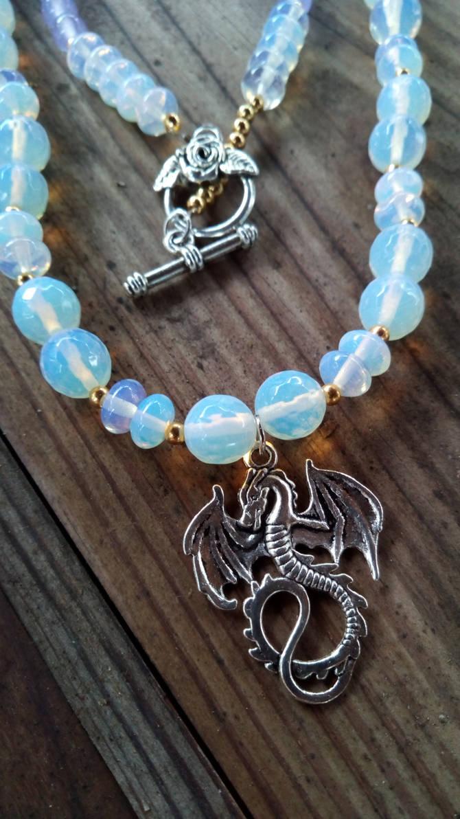 moonstone and Alexandrite Dragon