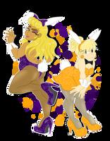 Blonde bunnies by Pinkartoony
