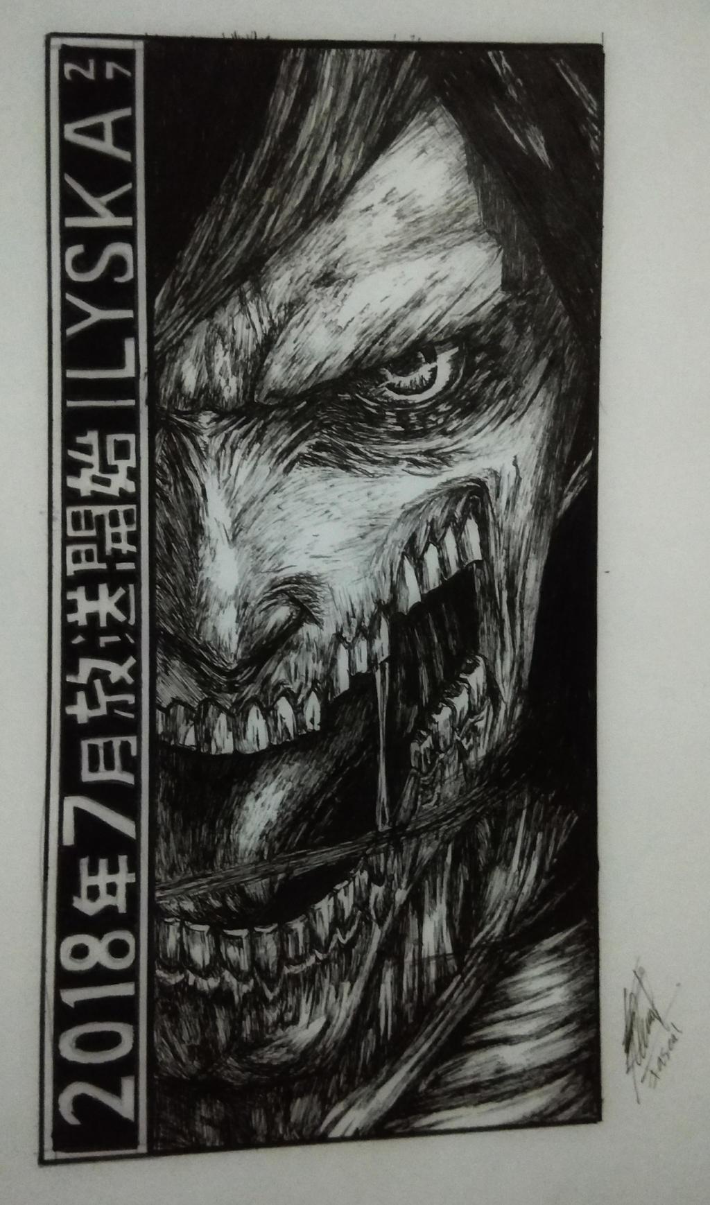 Eren Yeager Founding Titan Shingeki No Kyojin By Lyska27 On Deviantart