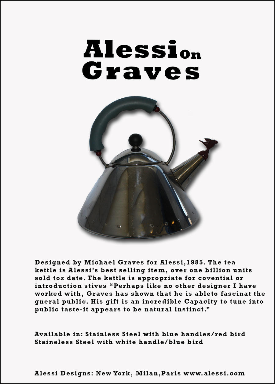 Alessi On Greaves 7x10 Advertisement Poster by MHuang51491