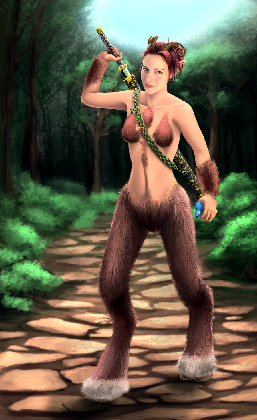 Dodger As A Satyr by Mandilor