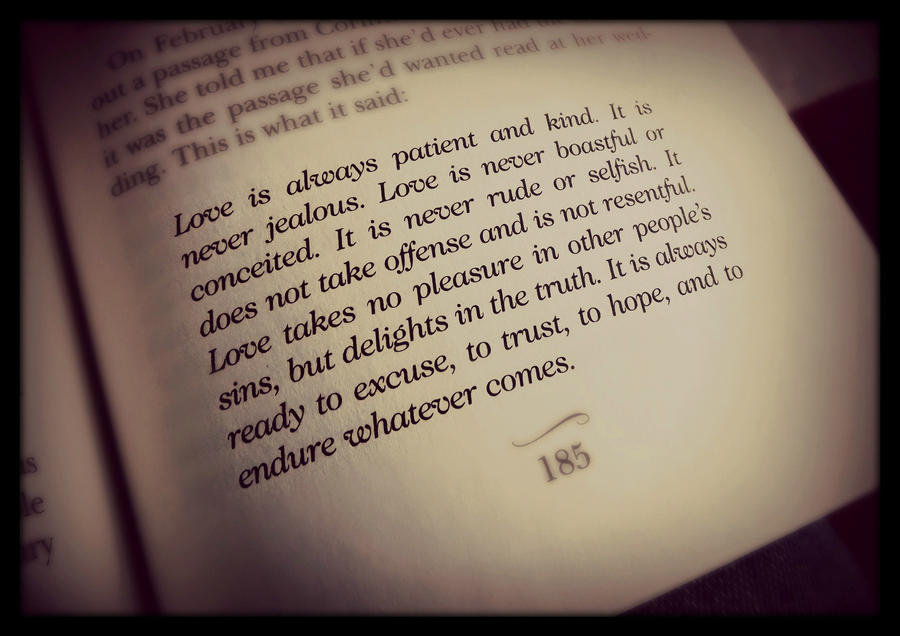Wedding Reading Love Is Patient: A Walk To Remember Quotes. QuotesGram