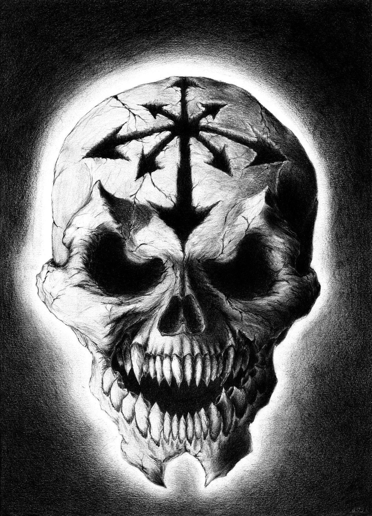 Chaos skull by kutxo on DeviantArt