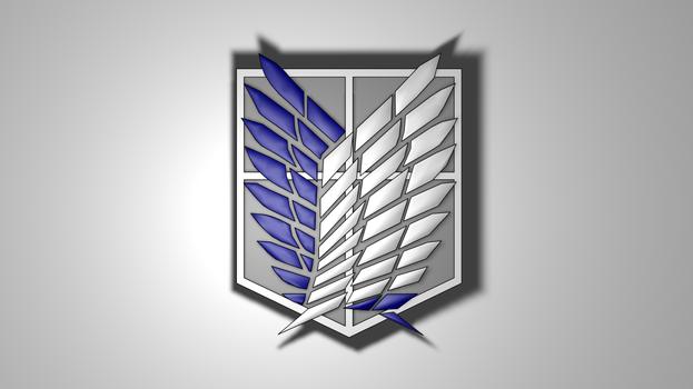 Shingeki no Kyojin: Recon Corps Symbol [Wallpaper]