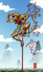 REDRAWN - Monkey King (Commission)