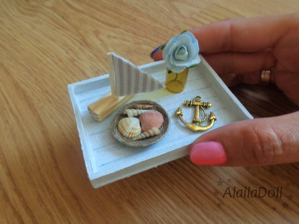 Miniature Handmade Dollhouse Seaside Decorations by alaila1