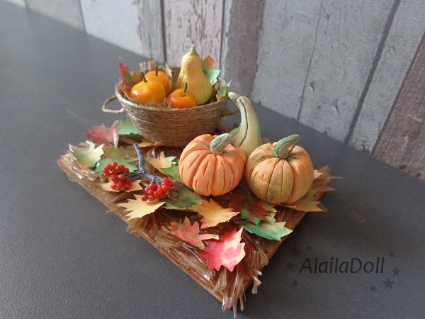 Miniature autumn decor by alaila1