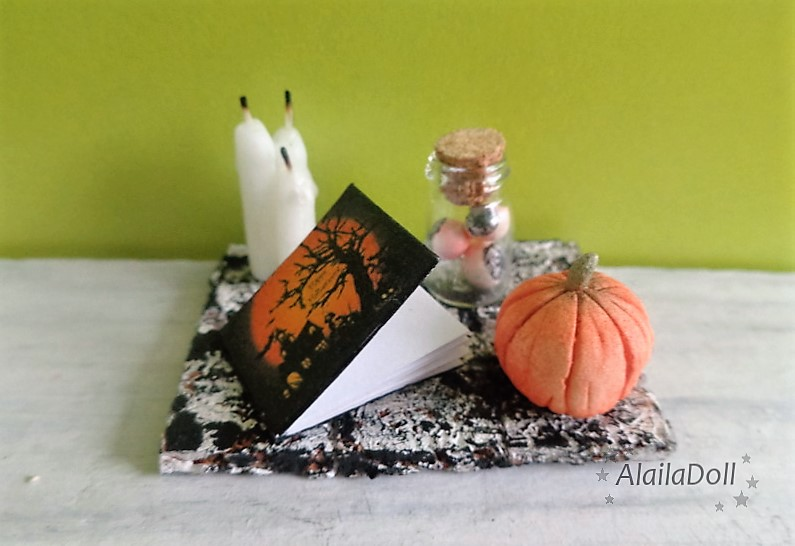 Miniature Halloween Decorations by alaila1