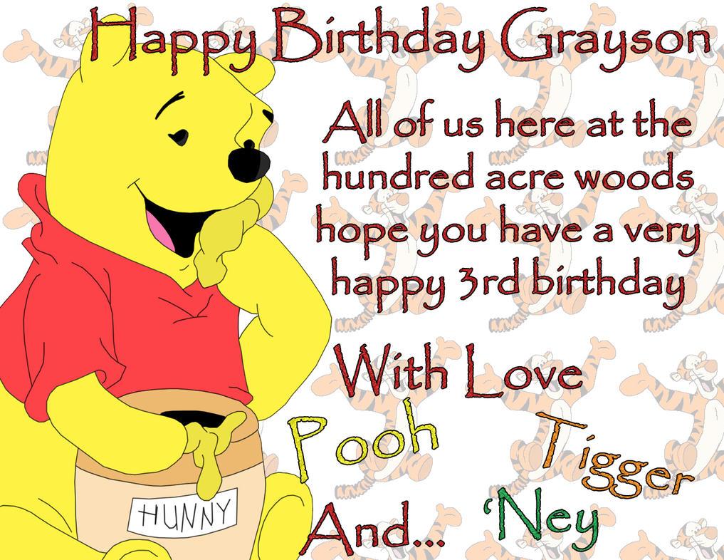 Happy Birthday Grayson By Blackdragon81 On DeviantArt