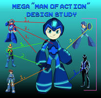 Mega Man (Of Action) Study -OUTDATED- by Soulment