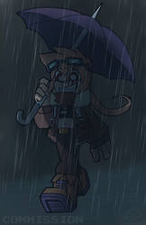 Full package commission: Champon in the rain by Soulment