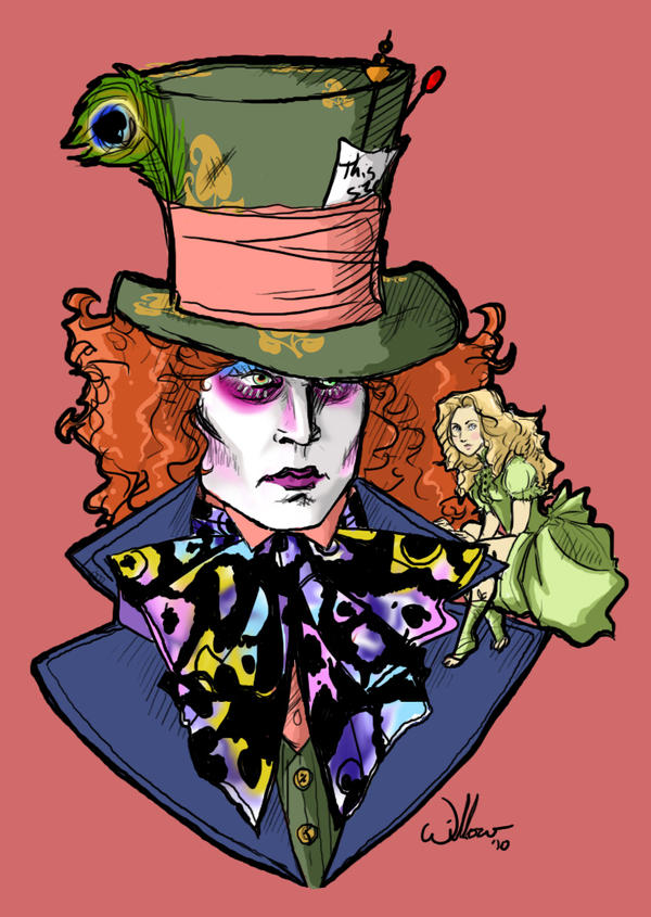 Alice and the Mad Hatter by Willowsama