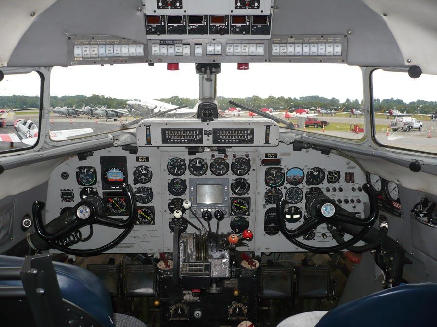 DC-3 Cockpit N44V by EeyoreInTheSky