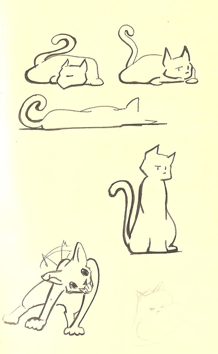 Cat and dog comic sketch by Jag-san