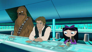 Chewbacca, Hans Solo And Pilot Isabella