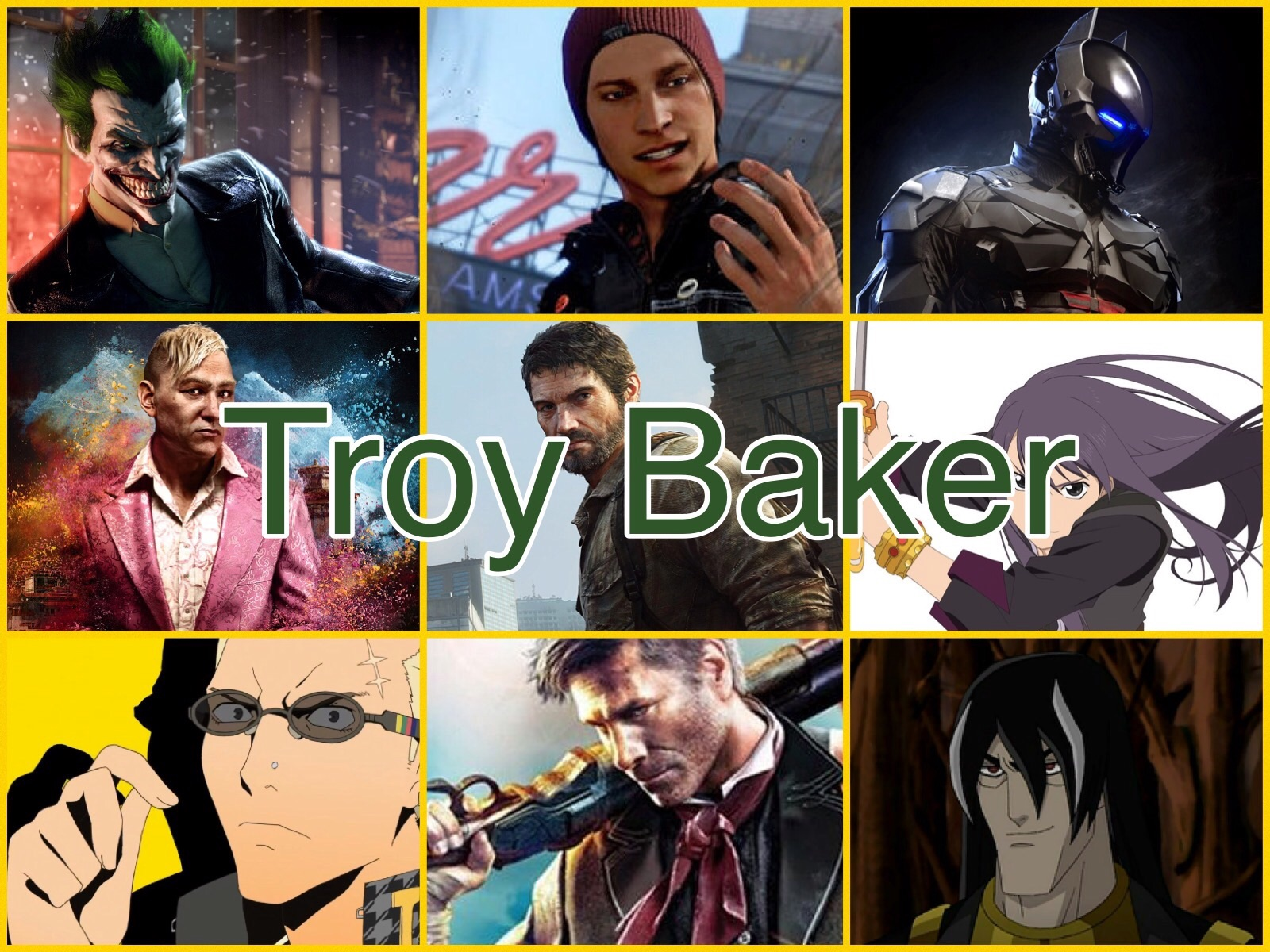 Troy Baker Characters by PhantomEvil on DeviantArt