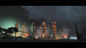 Green Arrow, Black Canary and Harley Quinn