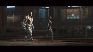 Cyborg And Catwoman