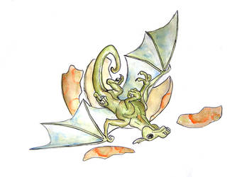 hatching dragon by studka