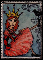 The Princess and The Blackbird by ATCs-By-Faeorain