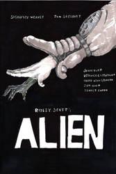 alien poster sketch 1 by komozeck