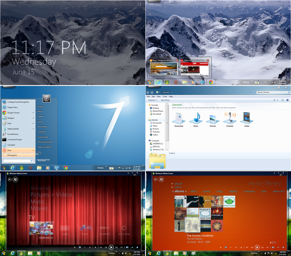 Opctheme customized windows7 by octogonpc on deviantart for Door to windows