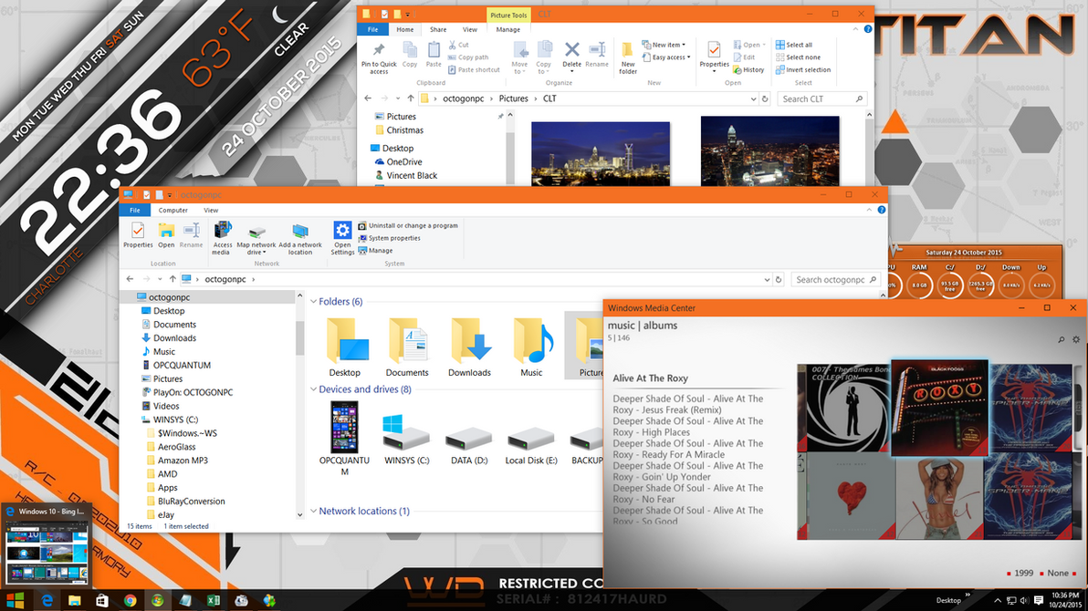 Windows 10 w/ Windows Media Center by octogonpc