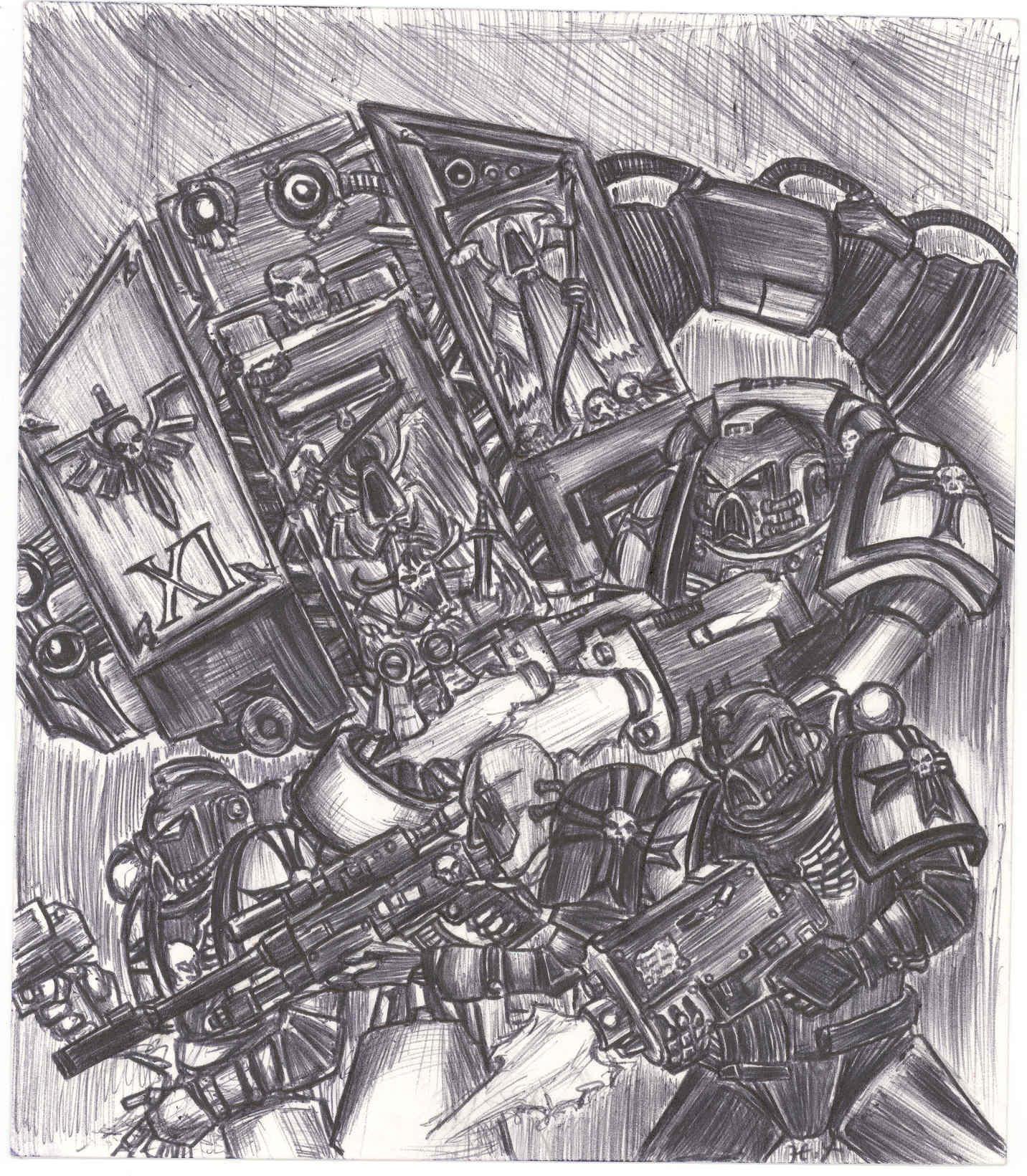 warhammer 40k art by kaorukun