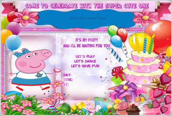 Peppa Pig Birthday Party Invitation By Tinadabulle On Deviantart