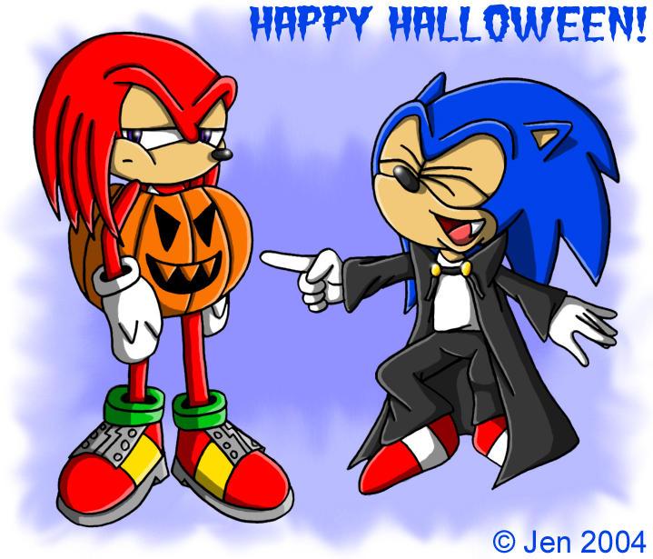 HALLOWEEN Sonic n Knuckles by JenHedgehog ...  sc 1 st  DeviantArt & HALLOWEEN:: Sonic n Knuckles by JenHedgehog on DeviantArt