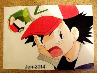 Ash Ketchum by JenHedgehog