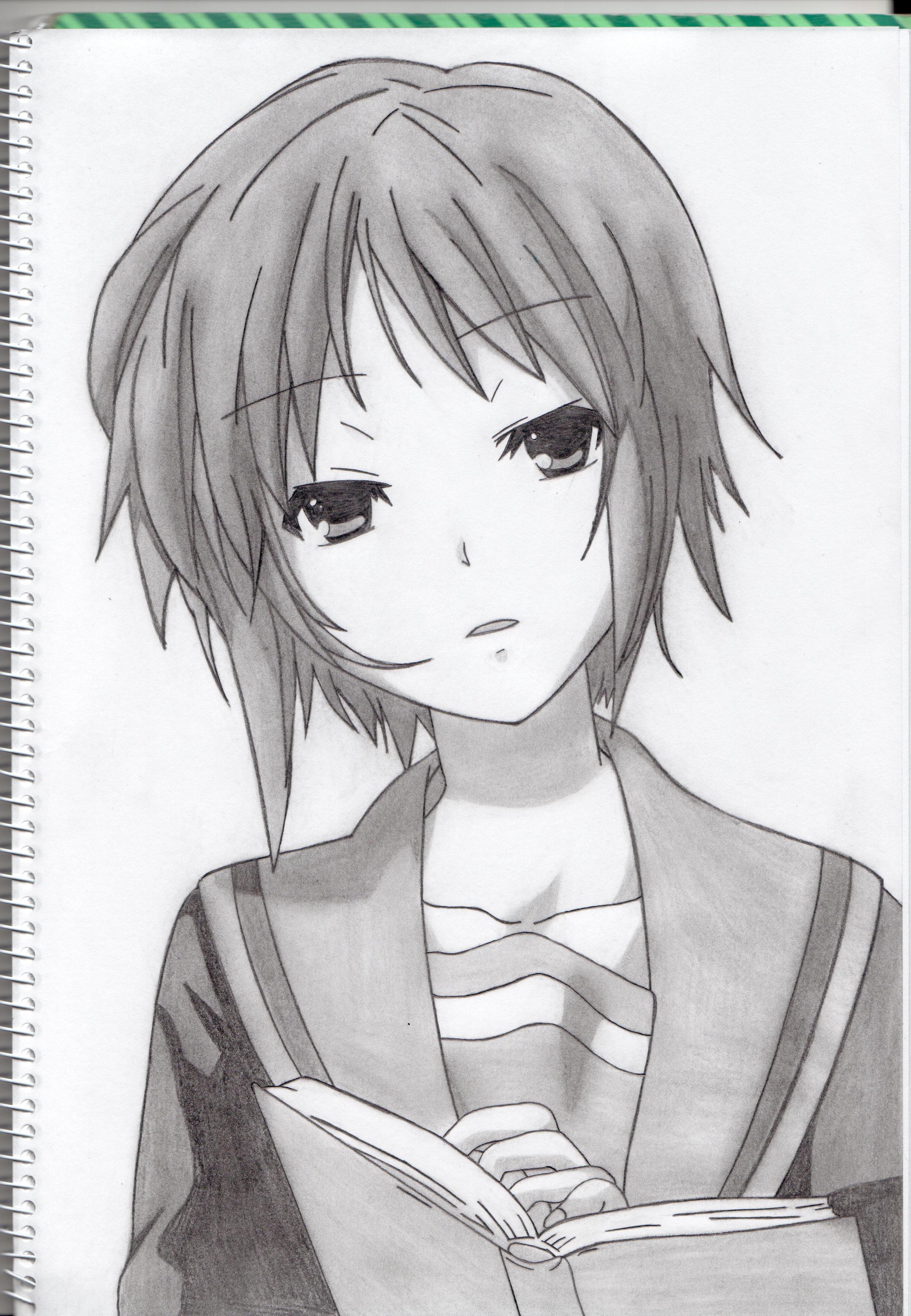 Yuki Nagato draw by kashim13