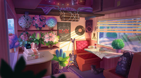 Flower seller. Interior by Nikki-67