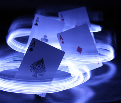 Playing Cards in Light