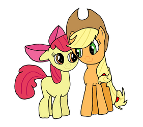Applejack and Applebloom by OmarZi