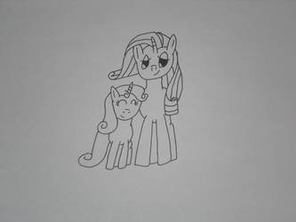 Rarity and Sweetie Belle by OmarZi