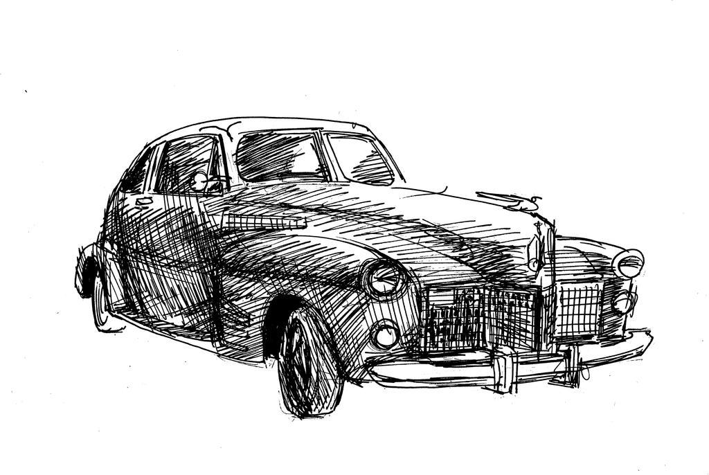 Old car by wadefollisart