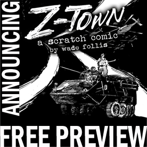 Z-Town Preview Annoucement Card by wadefollisart