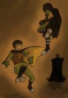 Robin vs Robin by godmoder