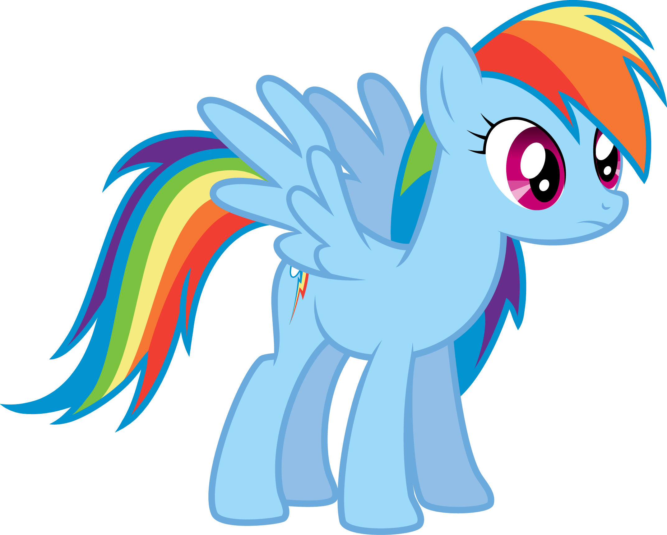 Rainbow Dash Worried