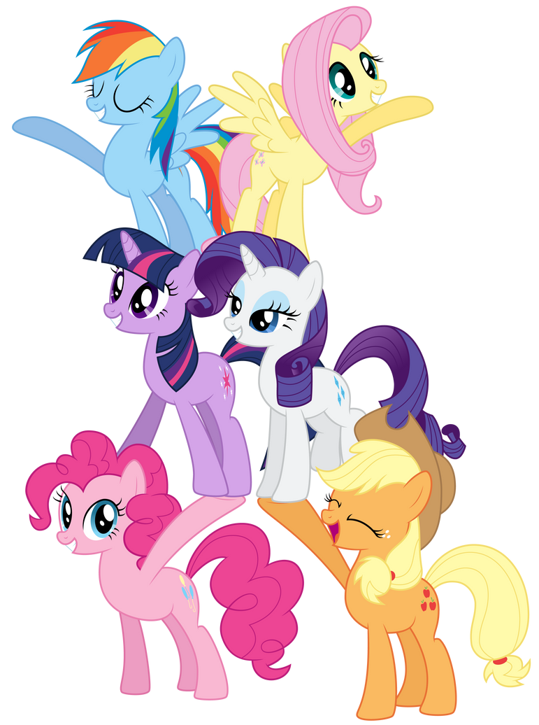 Vector - Mane 6 Welcome Tower by Ready2Fail
