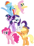 Vector - Mane 6 Welcome Tower