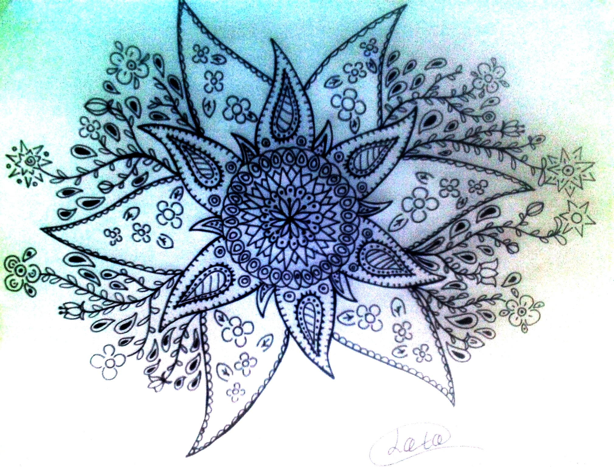 flor en blanco y negro by loto7714